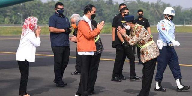 Presiden RI Jokowi Kunjungan Ke Bandara Sudirman Purbalingga