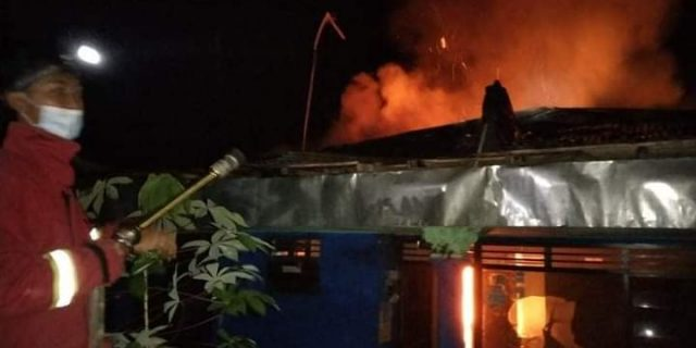 Rumah Sunarjo Warga Purbalingga Kebakaran