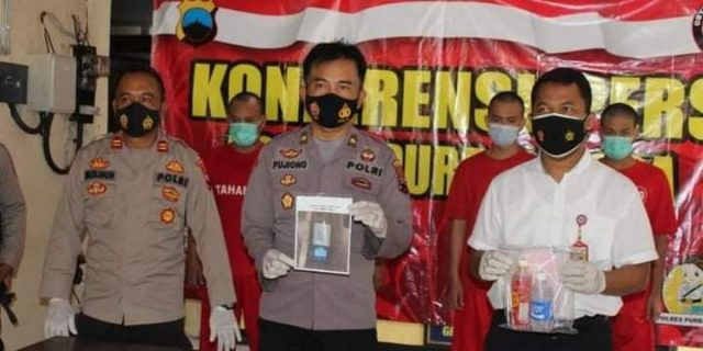 Satresnarkoba Polres Purbalingga mengamankan empat orang pelaku penyalahgunaan narkotika jenis sabu