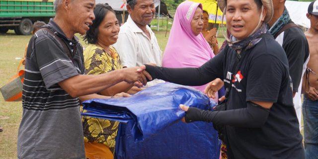 Korban Bencana Alam Sulteng Terhibur Hadirnya Relawan PWI dan SMSI