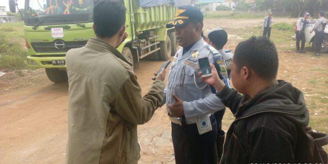 Dishub Provinsi Banten Gandeng Dishub Kabupaten Tangerang Razia Dijalan Raya Mauk Sepatan