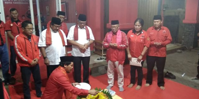 Peresmian Kantor Baru DPC PDI Perjuangan Diapresiasi Wakil Walikota Tangsel