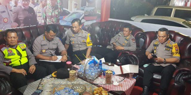 Irwasda Banten, Cek Pos Pengamanan Tahun Baru di Alun Alun Kota Serang