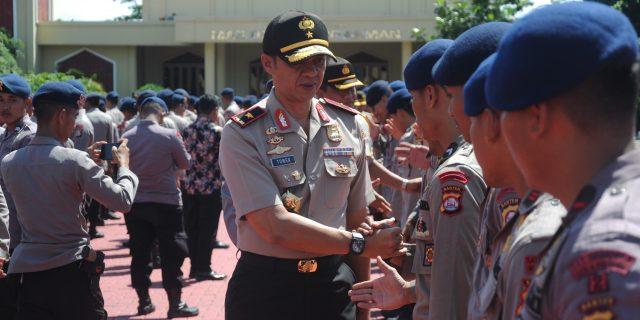 Wakapolda Banten Pimpin Apel Pelepasan Pasukan Korps Brimob Polri
