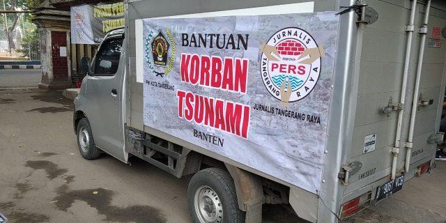 Himpunan Jurnalis Tangerang Raya Peduli Korban Tsunami Banten