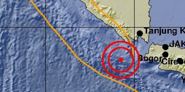 Gempa 5.0 SR Terdeteksi Di kabupaten Tanggamus