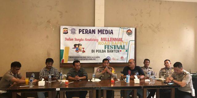 Dirlantas Polda Banten, Perankan Media Dalam Agenda Sosialisasi Millenial Road Safety Festival