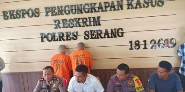 Dua Pelaku Pembobol ATM Berhasil Dibekuk Tim Satreskrim Polres Serang