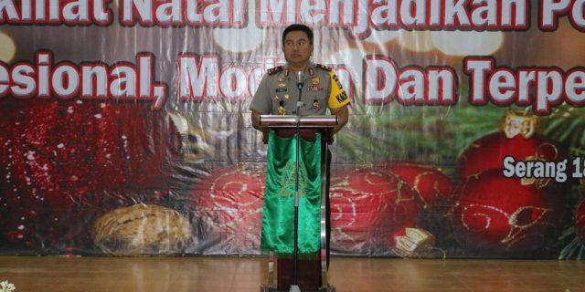 Kepolisian Daerah Banten dan jajaran melaksanakan perayaan Natal