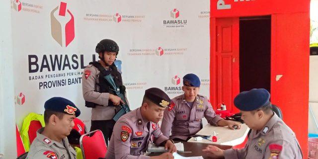 Ditsamapta dan Satrimob Polda Banten Perkuat Pengamanan Kantor Penyelenggara Pemilu