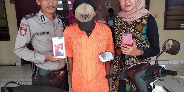 Jambret Dijalan Raya Berhasil di Amankan Polsek Talang Padang