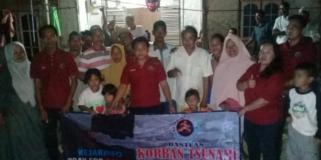Redaksi Kejarinfo Peduli Bencana Tsunami Banten
