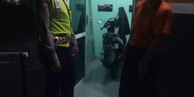 Saat Patroli, Ditsamapta Polda Banten Sampaikan Pesan Khantibmas