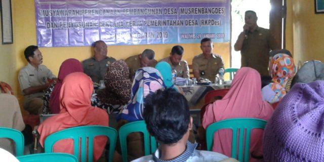 Desa Waliwis Laksanakan Musrenbang 2020