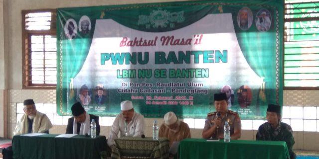 Dirbinmas Polda Banten Hadiri Bahtsul Masail I PWNU Provinsi Banten