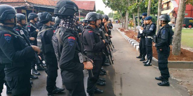 Brimobda Banten Laksanakan Pengamanan Kampanye Cawapres