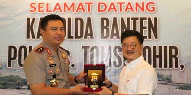 Kapolda Banten Laksanakan Penandatanganan Kerjasama kepada PT Arwana Citramulia