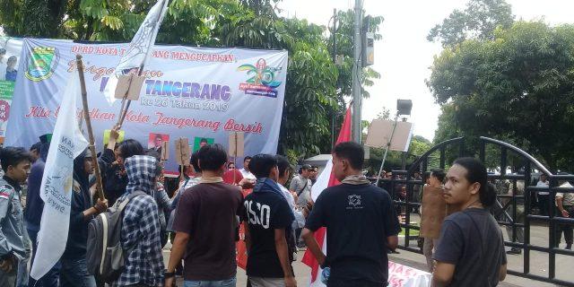 Persatuan Perjuangan Rakyat Tangerang Gelar Aksi Damai Di Hut Kota Tangerang