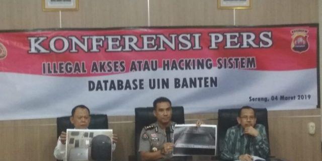 Direskrimsus Polda Banten, Bongkar Kejahatan Hacking Sistem UIN SMH Banten