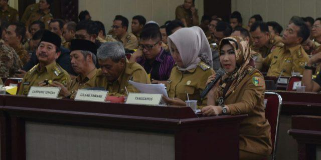 Bupati Hadiri Launching SIPPKD Provinsi Lampung