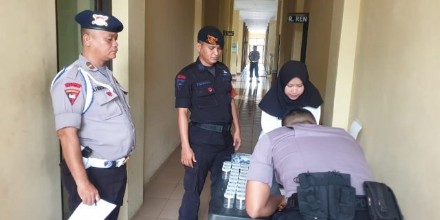 Brimob Polda Banten Laksanakan Kegiatan Penyuluhan Narkoba dan Tes Urin