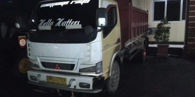 Satlantas Polres Lebak berhasil Gagalkan Aksi Pencurian Mobil Dump Truk