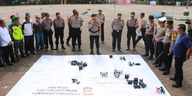 Polda Banten, Gelar Simulasi Sispam kota dalam rangka wujudkan pemilu 2019 yang aman dan kondusif
