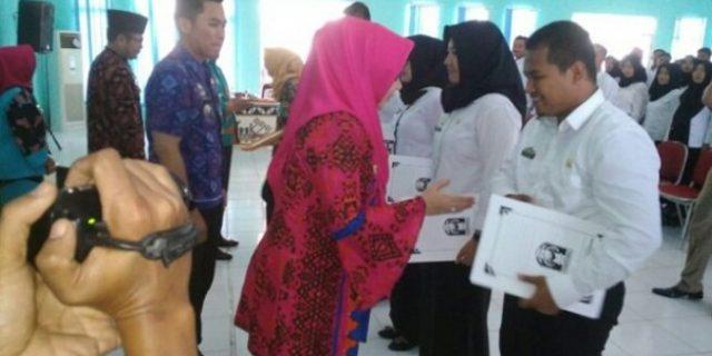 250 Calon PNS Mendapatkan SK Dari Bupati Tanggamus