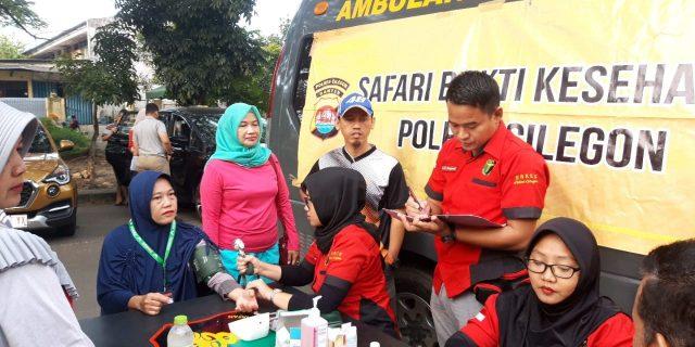 Bhakti Kesehatan Nusantara 2019 Biddokes Polda Banten Gelar Pelayanan Kesehatan
