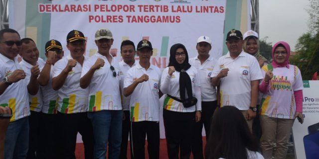 Bupati Dan Wakil Bupati Tanggamus Hadiri Millenial Road Safety Festival Polres Tanggamus