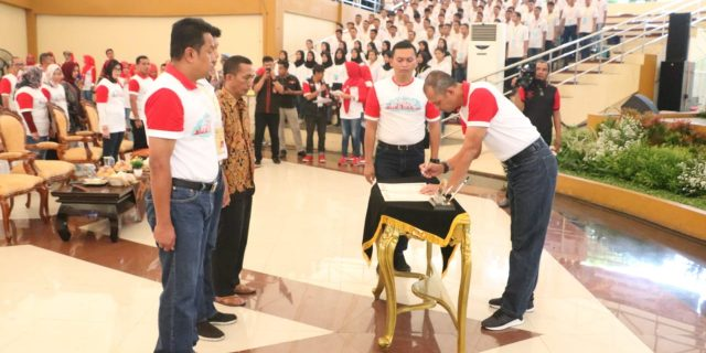 Polda Banten Gelar Penandatanganan Fakta Integeritas dan pengambilan sumpah
