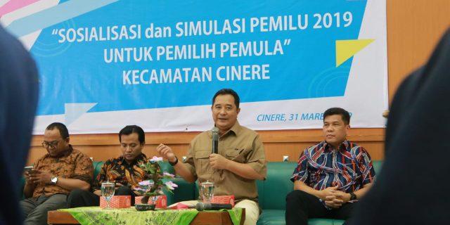 Kapuspen Kemendagri Ikut Sosialisasi Pemilu Pemilih Pemula di Cinere Depok