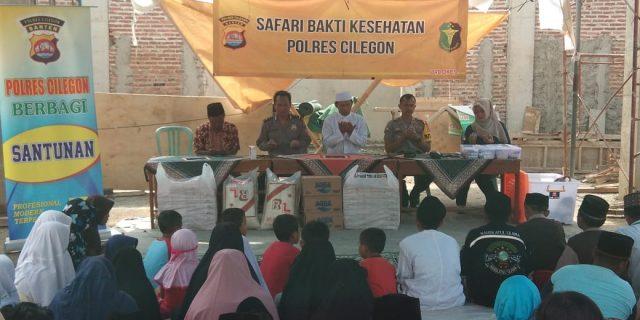 Polres Cilegon Laksanakan Jum'at Berbagi dan Safari Bhakti Kesehatan