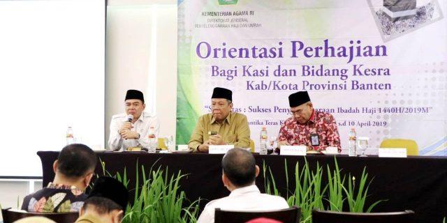 Orientasi Perhajian Bagi Kasi dan Kabag Kesra Provinsi Banten