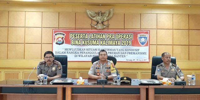 Dirbinmas Polda Banten Gelar Operasi Bina Kusuma Kalimaya 2019