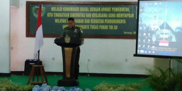 Korem 064/MY Banten Adakan Komunikasi Sosial Dengan Aparat Pemerintah
