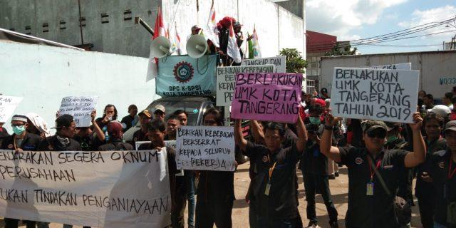 Karyawan  PT. Shiba Hidrolik Pratama Unjuk Rasa di Wilayah Hukum Polsek Batuceper