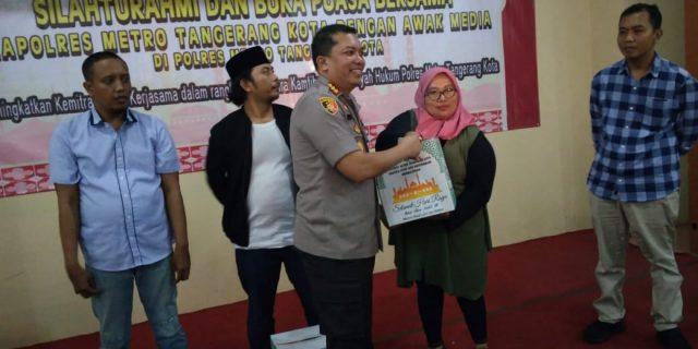 Polres Metro Tangerang Gelar Buka Puasa Bersama Dengan Insan Pers