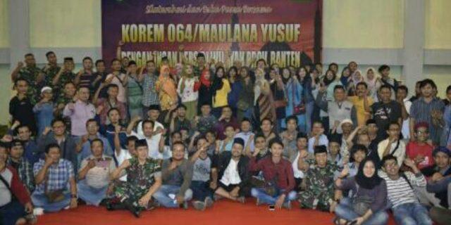 Korem 064 MY, Gelar Silaturahmi dan Buka Bersama Insan Pers se-Banten