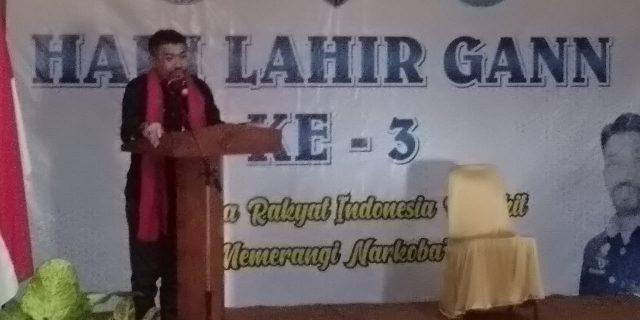 Generasi Anti Narkotika Nasional Mengajak Rakyat Indonesia Perangi Narkoba
