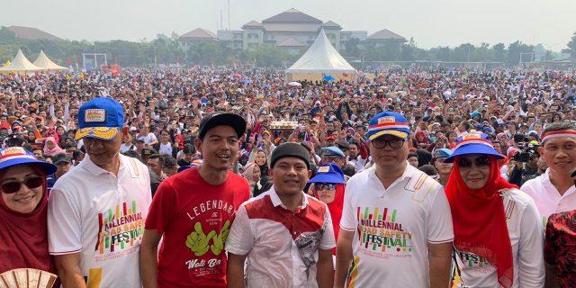 65 Ribu Warga Banten Hadiri Millenial Road Safety dengan kegiatan Karnaval Kebhinekaan