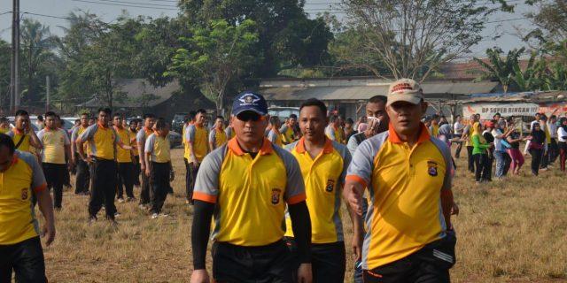Kapolresta Tangerang Sambut Hari Bhayangkara Ke 73 Dengan Olahraga Bersama