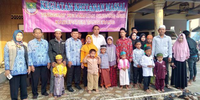 Kecamatan Sindang Jaya Gelar Sunatan Massal Dirumah Khitan Al-Wasi