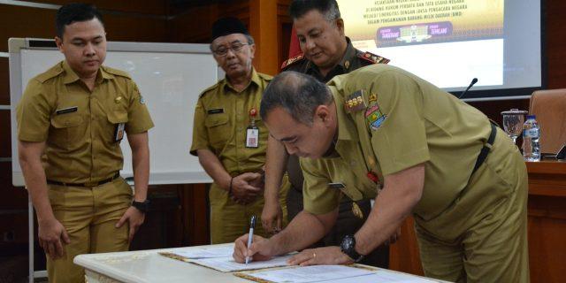 Bupati Tangerang Teken MOU Penanganan Aset Dengan Kejaksaan
