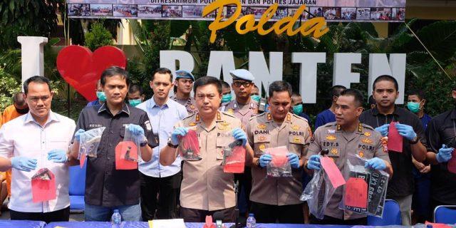Polda Banten Gelar Press Conference Hasil Ops Jaran Kalimaya 2019