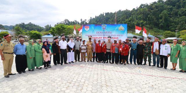 Semua Elemen di Kabupaten Raja Ampat Gelar Deklarasi Damai