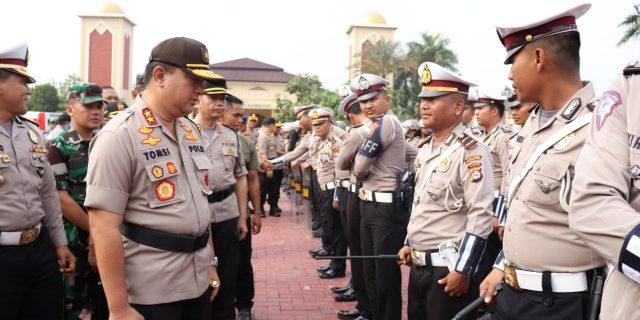 Kesiapan Pelantikan Presiden dan Wakil Presiden Polda Banten Gelar Apel Pasukan