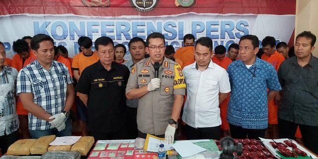 Polres Metro Tangerang Ungkap 73 Kasus Narkotika Dibulan September-Oktober