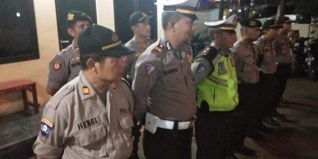 Apel kesiapsiagaan dan Apel Gabungan TNI-POLRI-POL PP Polsek batu ceper Kota Tangerang.