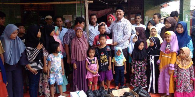 Calon Kades Terpilih Desa Matagara Berikan Santunan Untuk Anak Yatim.